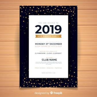 Bannière de la fête du nouvel an 2019