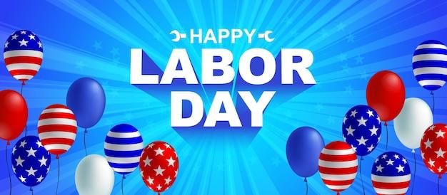 Bannière de fête du travail heureux