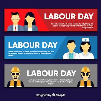Bannière de la fête du travail