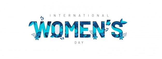 Bannière de la fête des femmes heureux.