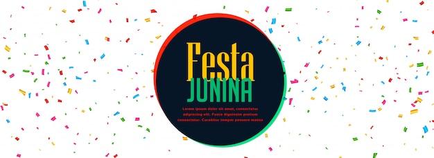 Bannière de fête de festa junina