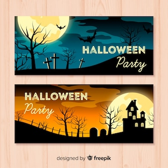 Bannière de fête d'halloween