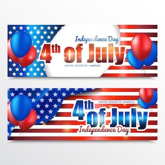 Bannière de la fête de l'indépendance américaine