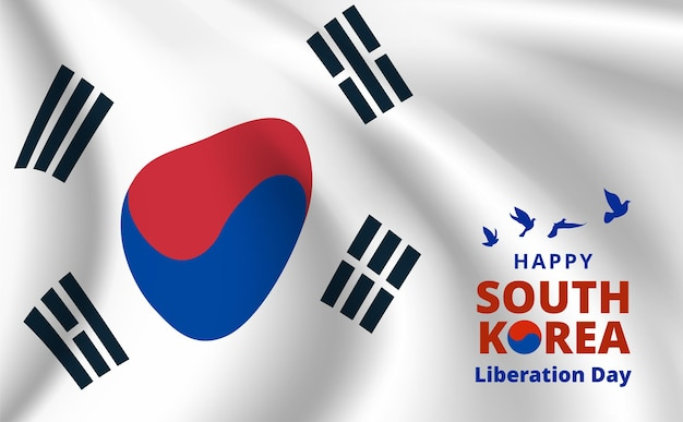 Bannière de la fête de l'indépendance de la corée du sud. illustration vectorielle.