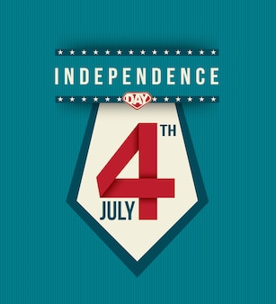 Bannière de la fête de l'indépendance du 4 juillet