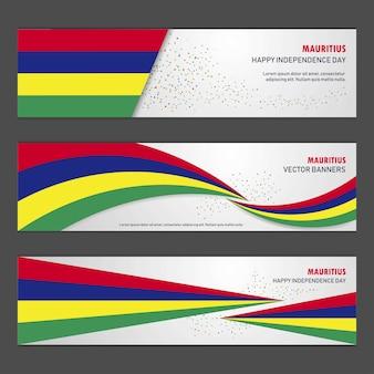 Bannière de la fête de l'indépendance de maurice