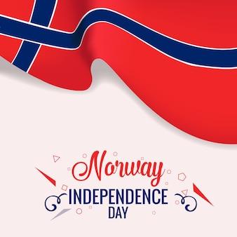 Bannière de la fête de l'indépendance de la norvège