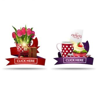 Bannière de fête des mères cliquable pour le site web