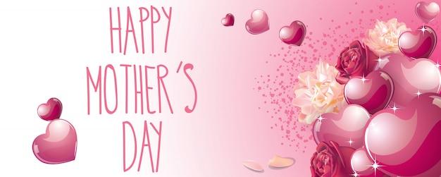 Bannière fête des mères heureux