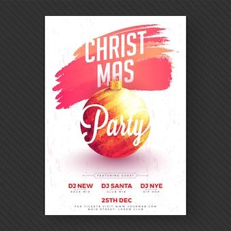 Bannière de fête de noël ou conception de flyer.
