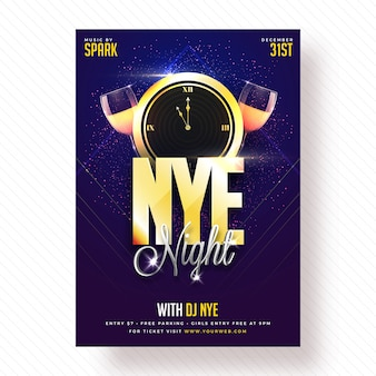 Bannière de fête de nouvel an, affiche ou flyer design.