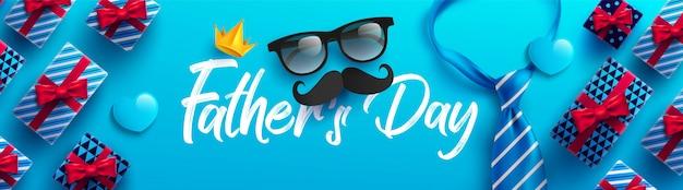 Bannière de la fête des pères heureux