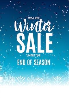 Bannière de fin de soldes d'hiver