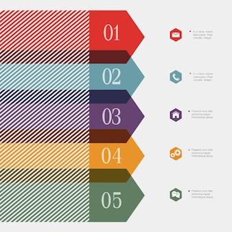 Bannière-flèche créative pour infographie