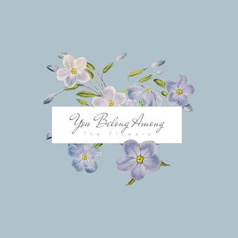 Bannière de fleurs phlox