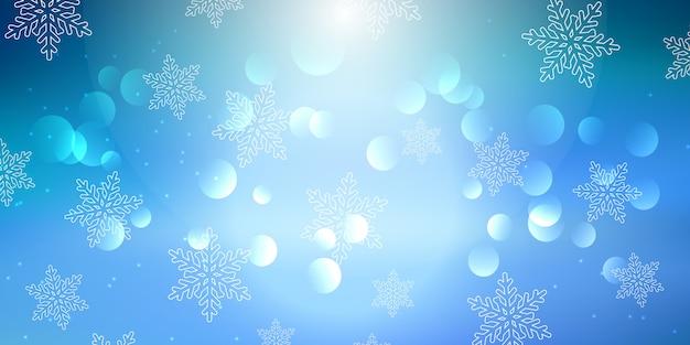 Bannière de flocon de neige de noël