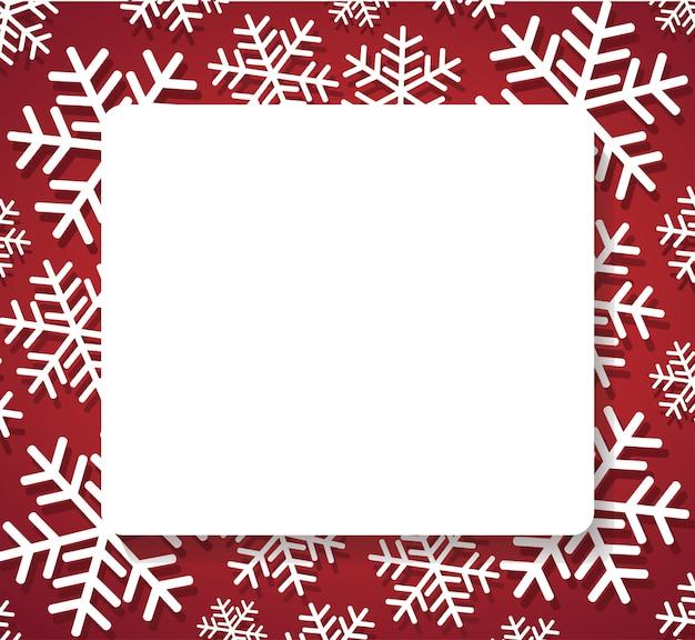Bannière de flocon de neige pour le fond web