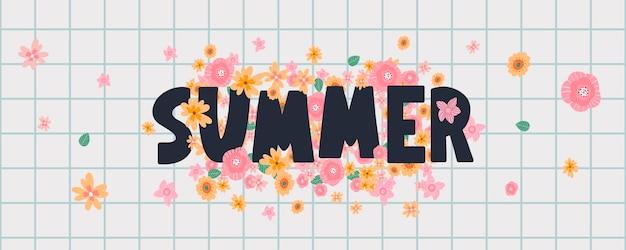 Bannière florale d'été