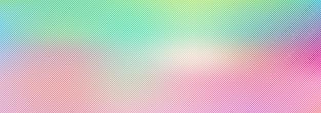 Bannière floue dégradé pastel arc-en-ciel abstrait