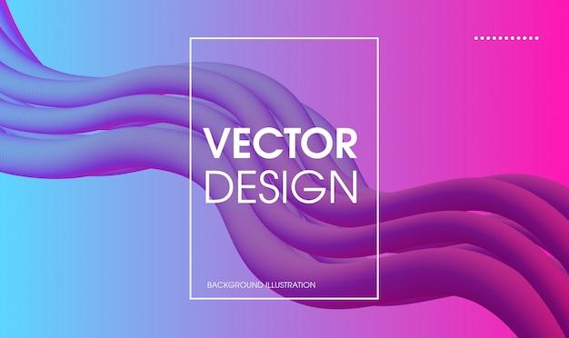 Bannière de flux coloré liquide vague abstract vector