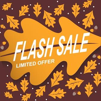 Bannière fond abstrait vente flash