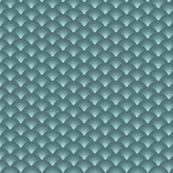 Bannière de fond en écailles bleu foncé