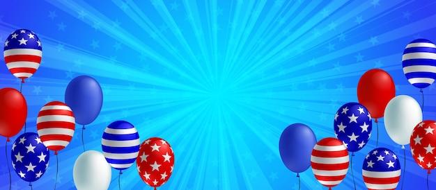 Bannière de fond éclaté bleu
