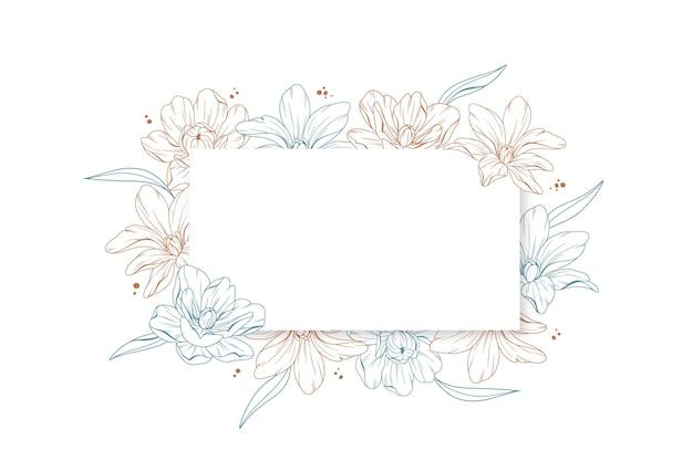 Bannière de fond floral de gravure