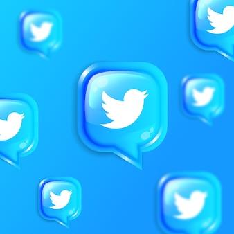 Bannière de fond d'icônes de skype flottant de médias sociaux