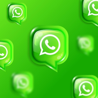 Bannière de fond d'icônes whatsapp flottantes de médias sociaux