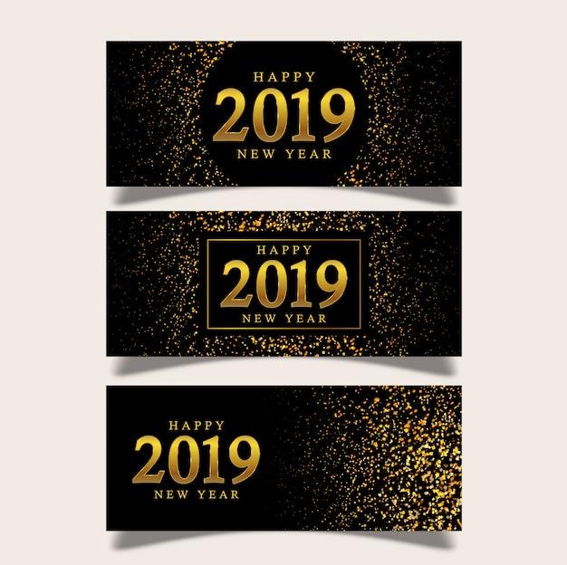 Bannière fond nouvel an
