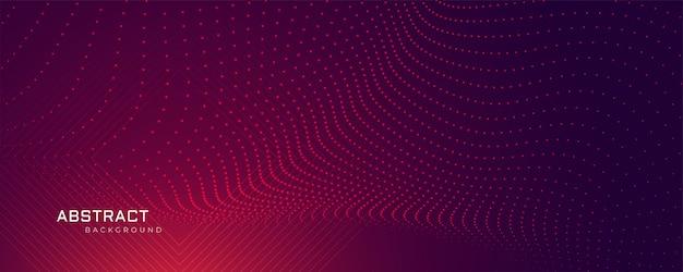 Bannière de fond de particules abstraites