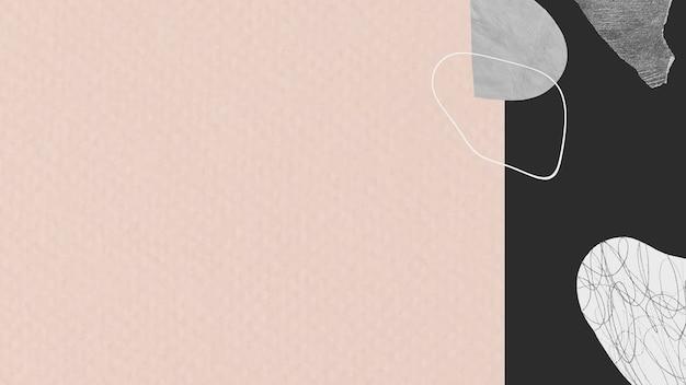 Bannière de fond texturé rose et noir
