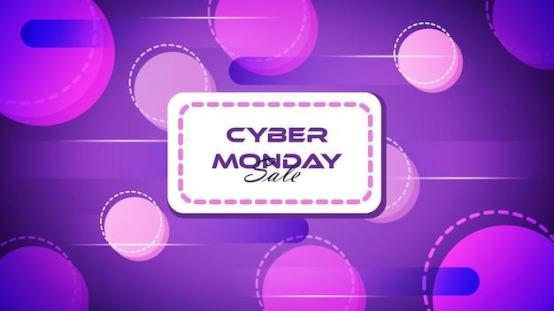 Bannière et fond de vente cyber lundi