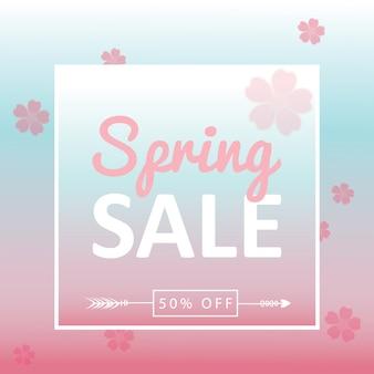 Bannière de fond de vente de printemps
