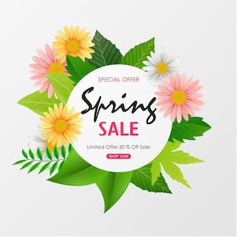 Bannière de fond vente de printemps