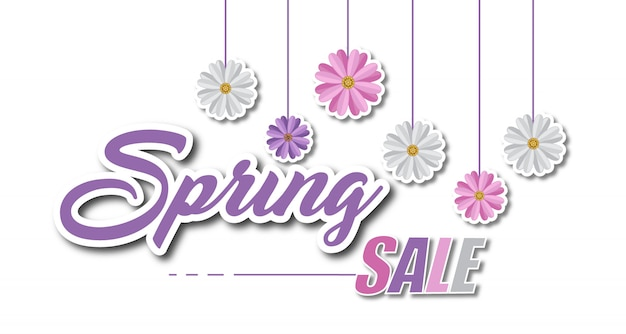 Bannière fond de vente de printemps