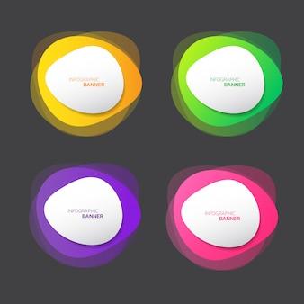 Bannière de forme abstraite colorée