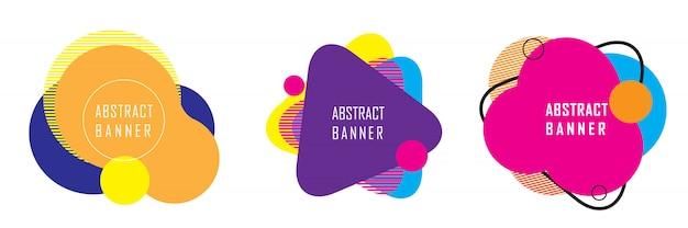 Bannière de forme géométrique abstraite