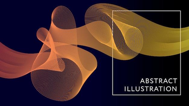 Bannière de forme géométrique illustration abstraite fond