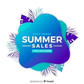 Bannière de forme liquide de vente d'été