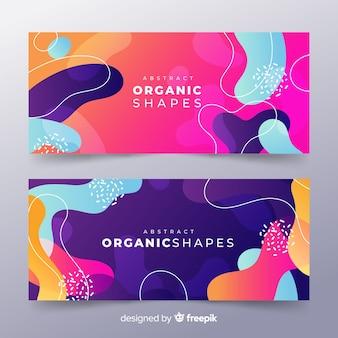 Bannière de forme organique abstraite