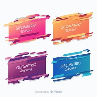 Bannière de formes géométriques colorées