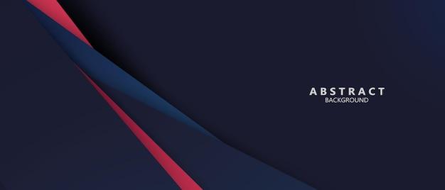 Bannière de formes modernes abstraites bleu rouge