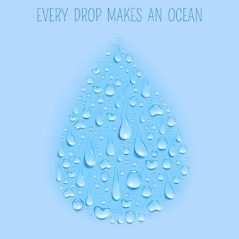 Bannière fraîche d'eau naturelle écologiquement propre