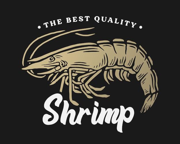 Bannière de fruits de mer aux crevettes