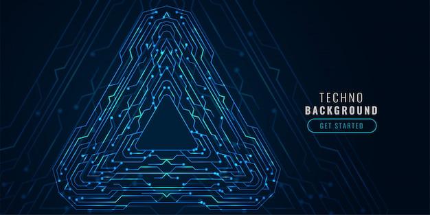 Bannière futuriste de schéma de circuit de technologie numérique