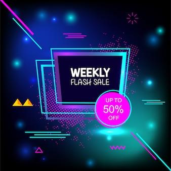 Bannière de la géométrie créative hebdomadaire de vente flash spéciale