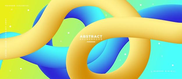 Bannière géométrique abstraite colorée composition de formes fluides.