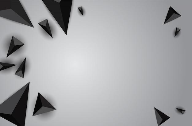Bannière géométrique abstraite de couleur avec triangle.